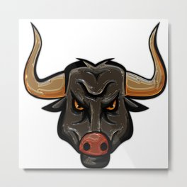bull longhorn metallizer Metal Print