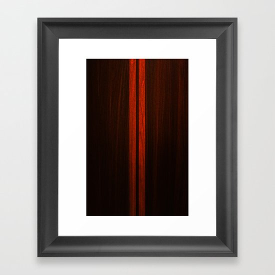 Wooden Striped Oak case Framed Art Print