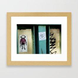 I HEART ZERO G Sticker Art Framed Art Print