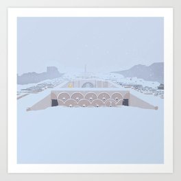 Soviet Modernism: The Yerevan Cascade Art Print