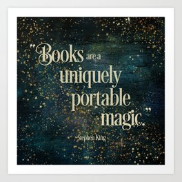 Books are a Uniquely Portable Magic Art Print