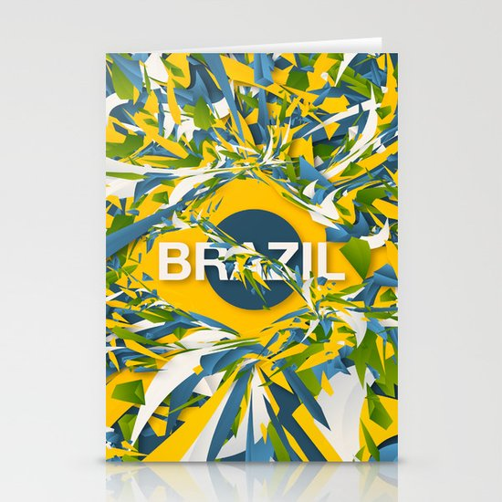 Abstract Brazil Stationery Cards
