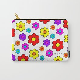 Pop Flowers Carry-All Pouch