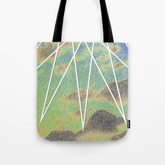 Solarized Burst Tote Bag