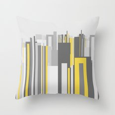 modern skyscapers skyline Throw Pillow