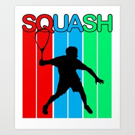 Squash Ball Sport Racket Game Player Racquet Gift Art Print
