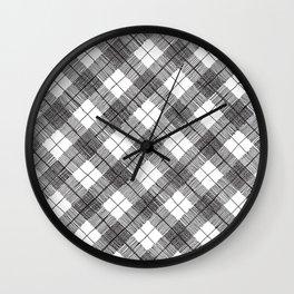 black and white argyle Wall Clock