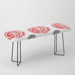 Sun mandala pattern Bench