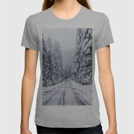 Snowy Oregon Forest Roads T-shirt