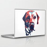 labrador Laptop & iPad Skins featuring Patriotic Labrador  by Rachel Barrett