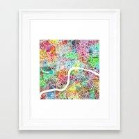 london map Framed Art Prints featuring london map by Nicksman