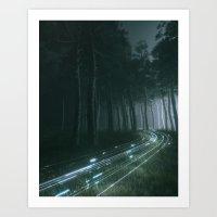 WHITE PHOTO STREAM Art Print