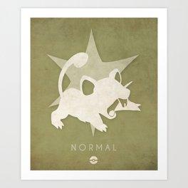POKÉMON Normal Art Print