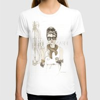 notebook T-shirts featuring My breakfast at Tiffany's by Cecilia Sánchez