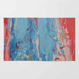 Dragon Tears. From my Original Painting. Abstract Painting by Jodilynpaintings. Abstract Rug