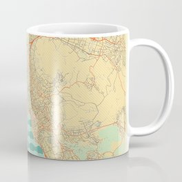 Zurich Map Retro Coffee Mug