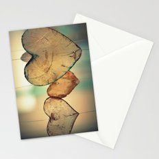 Vintage Boho Chic Bokeh Hearts Wind Chimes Stationery Cards