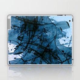 Brushing in Blue Laptop & iPad Skin