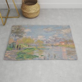 Spring by the Seine by Claude Monet Rug
