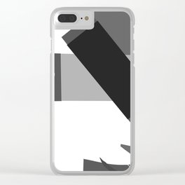 Matisse Inspired Black and White Collage Clear iPhone Case