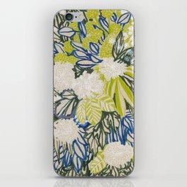 White chrysanthemums -ink floral iPhone Skin
