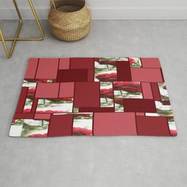 Red Rose with Light 1 Art Rectangles 8 Rug