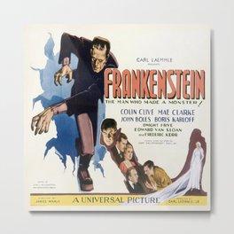 Vintage poster - Frankenstein Metal Print