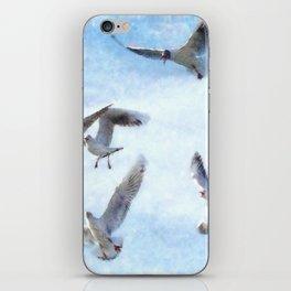 Gulls In Flight Watercolor iPhone Skin