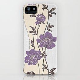 Purple Flower Garland iPhone Case