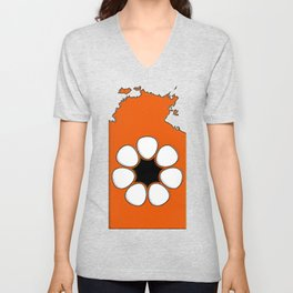 Northern Territory Australia Map with NT Flag Unisex V-Neck