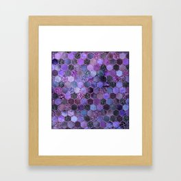 Purple geometric hexagonal elegant & luxury pattern Framed Art Print