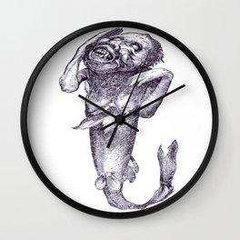 Halloween Horror Macabre Merman Meerjungfrau Vector Wall Clock