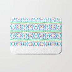 Aztec Geometric Print - Pastel bright colours Bath Mat