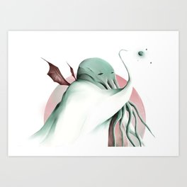 Cthulhu, conqueror of all worlds Art Print