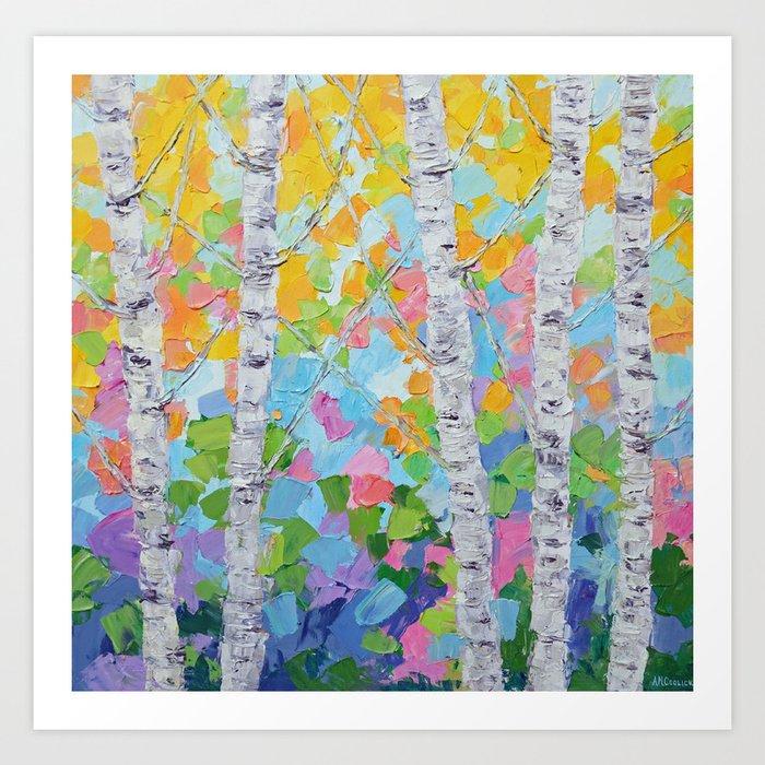Dancing Birch Trees No. 2 Art Print