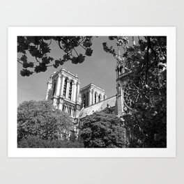 Notre Dame in Spingtime Art Print
