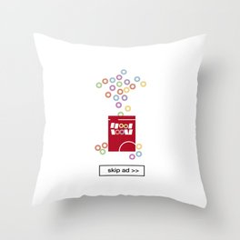 cereal ad Throw Pillow