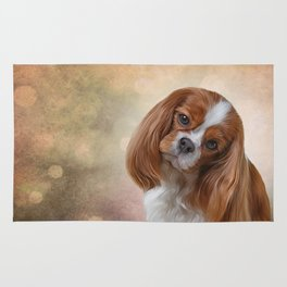Drawing Dog Cavalier King Charles Spaniel Rug