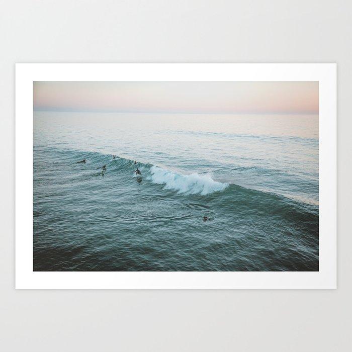 Let's Surf V Art Print by Society6