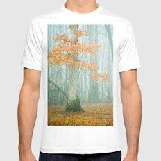 Autumn Woods MEDIUM White Mens Fitted Tee