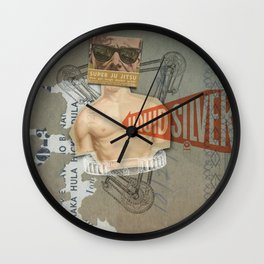 Super Ju Jitsu Liquid Silver Wall Clock
