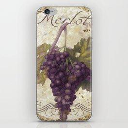 Tuscan Table Merlot iPhone Skin