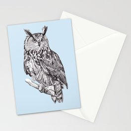 Eagle Owl Stationery Cards