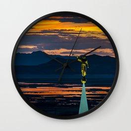 Bountiful Sunset - Moroni Statue - Utah Wall Clock