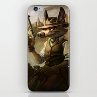 coyote iPhone & iPod Skins featuring coyote by kajoo art