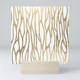 Elegant modern faux gold abstract animal print Mini Art Print
