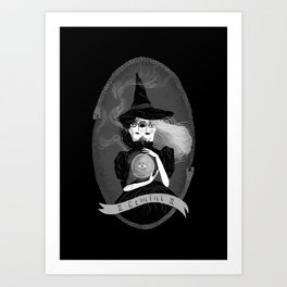 Gemini Witchy Zodiac Art Print