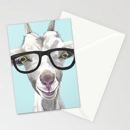 Goat with Glasses, Cute Farm Animal Stationery Cards