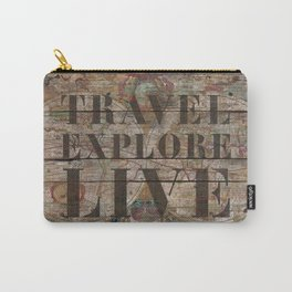 Travel Explore Live (Old Map) Carry-All Pouch