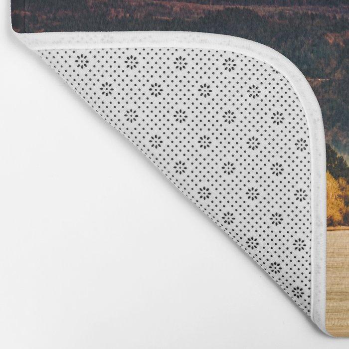 Sunset Snowy Mountain - Mt. Hood Bath Mat